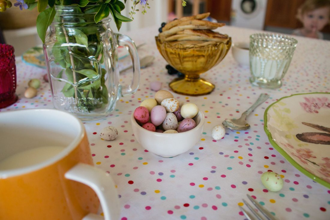 The kids love these speckled eggs for a super treat/bribe.
